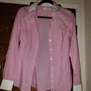 Pink long sleeve button down
